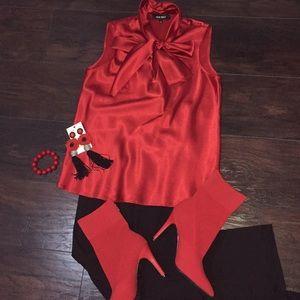 Nine West bow dressy top